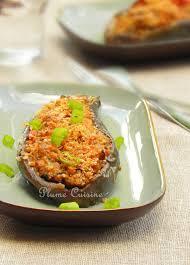aubergines farcies à l antillaise une plume dans la cuisine