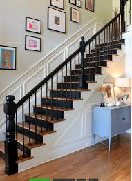 painted staircases black vs white bright green door