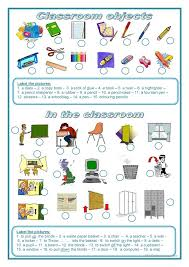 all worksheets classroom objects worksheets pdf free printable