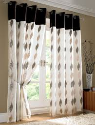interior black white modern decorative window curtain and grommet