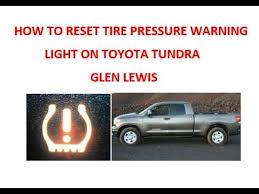 how to reset maintenance light on toyota tundra 2011 how to reset tire pressure warning light on toyota tundra youtube