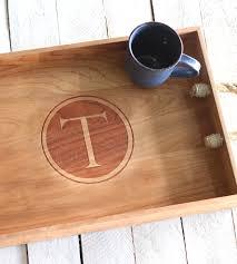 monogrammed serving platter custom monogram wood serving tray home kitchen pantry