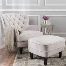 Chair And Ottoman Tafton Tufted Fabric Club Chair With Ottoman By Christopher
