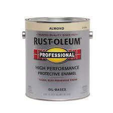 rust oleum professional 1 gal almond gloss protective enamel