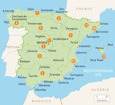 European Time Zone Map by Map Of Spain Spain Regions Rough Guides