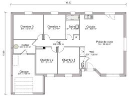 plan maison 6 chambres plain pied construction maison individuelle traditionnelle cannelle de 103 m2