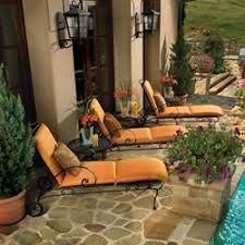 Wrought Iron Patio Chaise Lounge Ow Lee Avalon Collection Ow Lee Wrought Iron Furniture