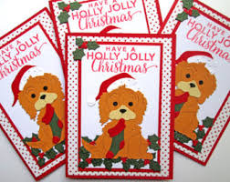 dog christmas cards etsy
