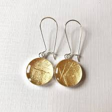 dangly earrings gold foil dangly earrings gabbyresin