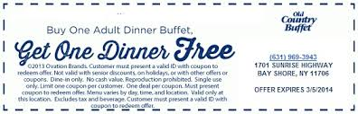 Country Buffet Rochester Ny by Free Printable Old Country Buffet Coupon October 2017