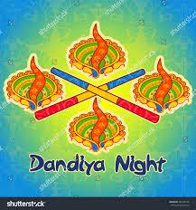 Decorate Dandiya Sticks Home Vector Design Diya Lamp Stick Dandiya Stock Vector 481288738