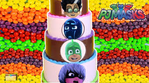 halloween candy cake pj masks candy cake game with pj masks surprise toys candy blind