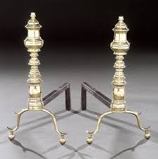 Antique Brass Fireplace Andirons by Purcell Antiques Id Results Page