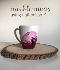 dollar store hack marble mugs using nail polish babble