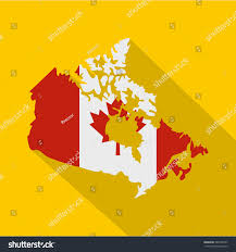 Map Of Canada Map Canada National Flag Colors Icon Stock Vector 580128937