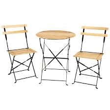 Wooden Bistro Chairs Appealing Folding Bistro Table And 2 Chairs With Kitchen Best Of