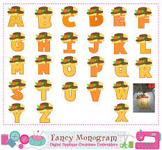 thanksgiving letters applique scarecrow monograms applique