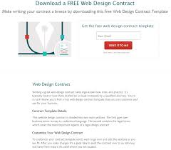 where to find web design contract templates for web design