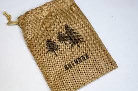 burlap drawstring bags woodland backyard cing birthday party invitation no 10 top