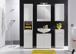 Meuble De Rangement Salle Bain Armoire 1 Miroir Meuble Bas De Salle De Bain 1 Porte 1 Tiroir Laqué Blanc Obra