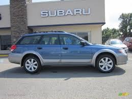 blue subaru outback 2007 2009 newport blue pearl subaru outback 2 5i special edition wagon
