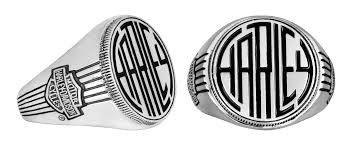 Mens Monogram Rings Hdr0317 Harley Davidson Mens 925 Silver Monogram Ring By Mod