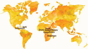 Ethiopia World Map by Where We Work Double Harvest