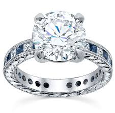 sapphire accent engagement rings 16 best sapphire accented engagement rings images on