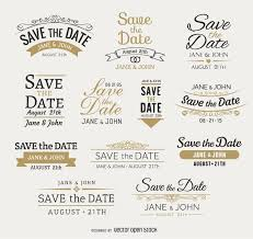 save the date save the date emblems vector
