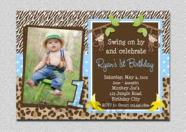 boys jungle birthday invitation monkey birthday invitation