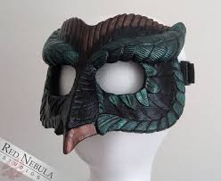 owl mask black green and copper owl mask by nightlyre on deviantart