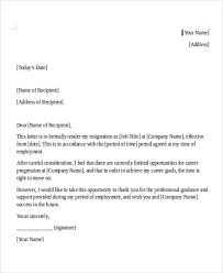 internship resignation letter template 6 free word pdf format