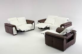 furniture two toned modern leather sectional sofa featuring white
