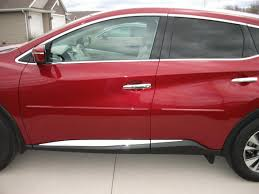 nissan murano 2017 red body side moldings from sportwing com nissan murano forum