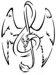 treble clef snake tattoo coloring color luna