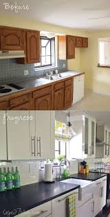 kitchen cabinets color change pretty before and after kitchen makeovers noted list