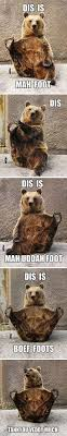 Bear At Picnic Table Meme - couldn t help but read our in a deep voice in my head which made me