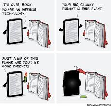 Ebook Meme - ebook reader vs book