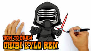 how to draw kylo ren star wars youtube