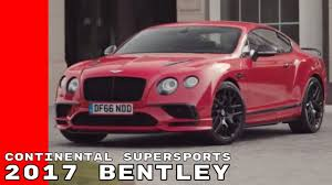 bentley red st james red 2017 bentley continental supersports youtube