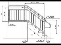 deck stair railing measurements deck stair railing post height
