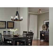 Kichler Lighting Kitchen Lighting by Shop Kichler Lighting Barrington 5 Light Distressed Black And Wood