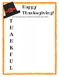 thanksgiving free printable acrostic poem for free printable