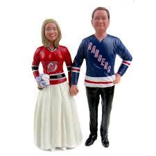 hockey cake toppers custom rangers hockey wedding cake toppers and groom