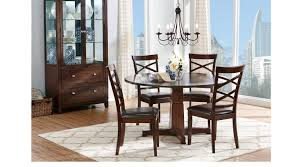 riverdale cherry 5 pc round dining room x back chairs transitional
