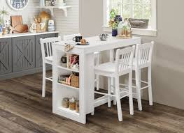 jofran maryland counter height storage dining table alcott hill amandes counter height dining table with shelving