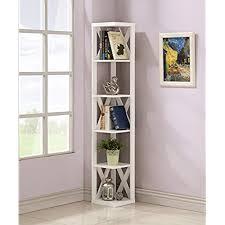 Corner Bookcases White Corner Bookcases