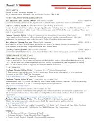 Pilot Resume Examples Internship Guide U0026 Process U2013 Film And Video Studies