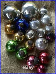 19 vtg antique kugel mercury glass ornaments cobalt