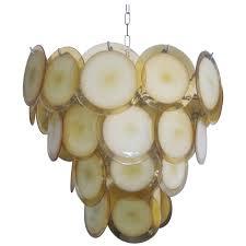 Murano Glass Lighting Pendants by Mid Century Modern Murano Venetian Glass Disc Chandelier Or